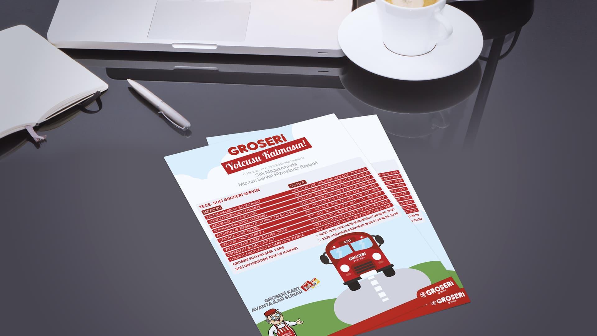 Groseri - Flyer Tasarımı