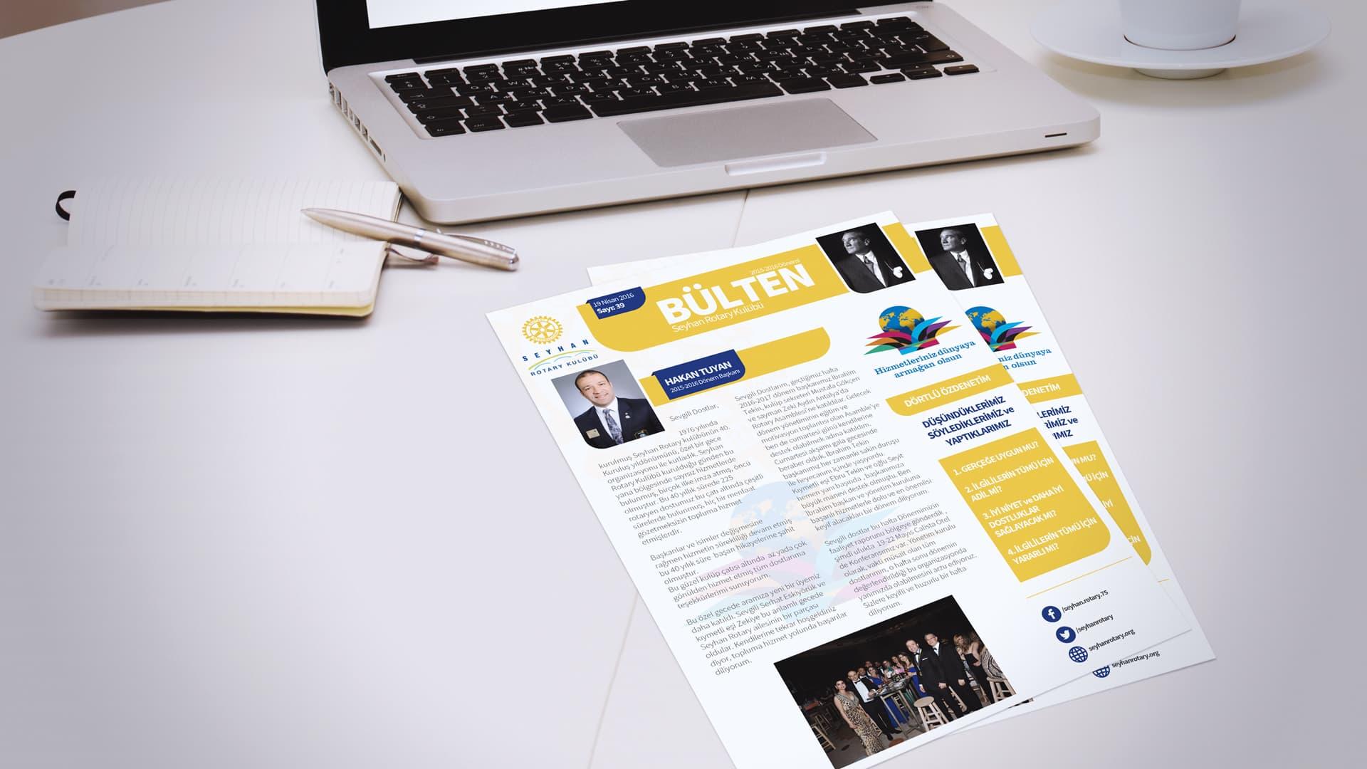 Seyhan Rotary - Bülten Tasarımı