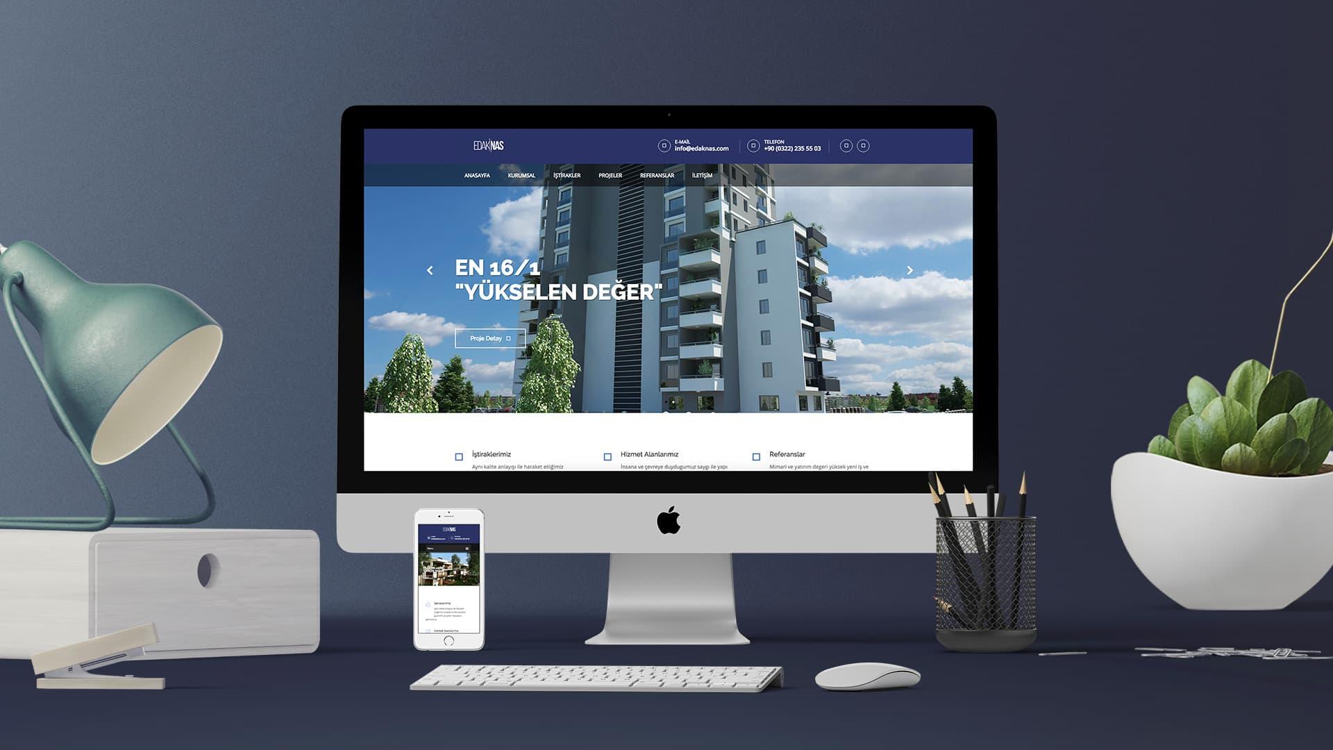 Edak/Nas - İnternet Sitesi Tasarımı