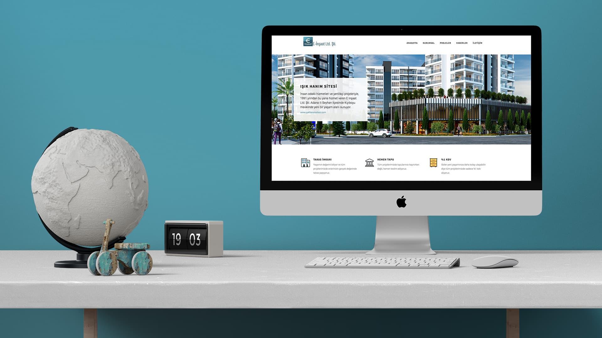 E-İnşaat - İnternet Sitesi Tasarımı