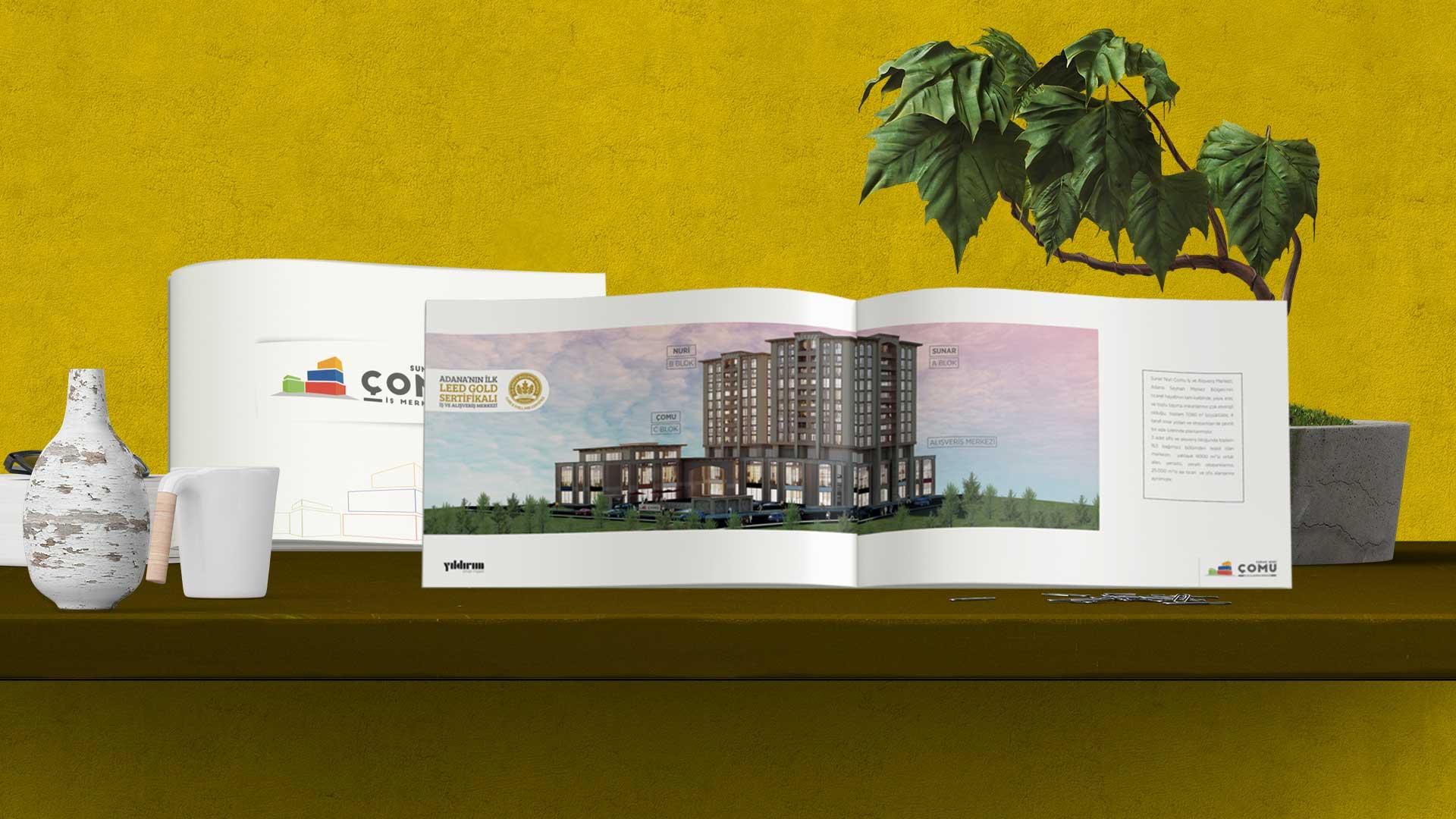 Sunar Nuri Çomu İş ve Alışveriş Merkezi - Katalog Tasarımı