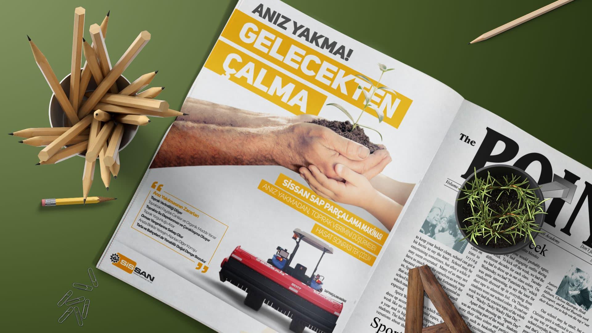 Sissan Makina - Gazete İlanı Tasarımı