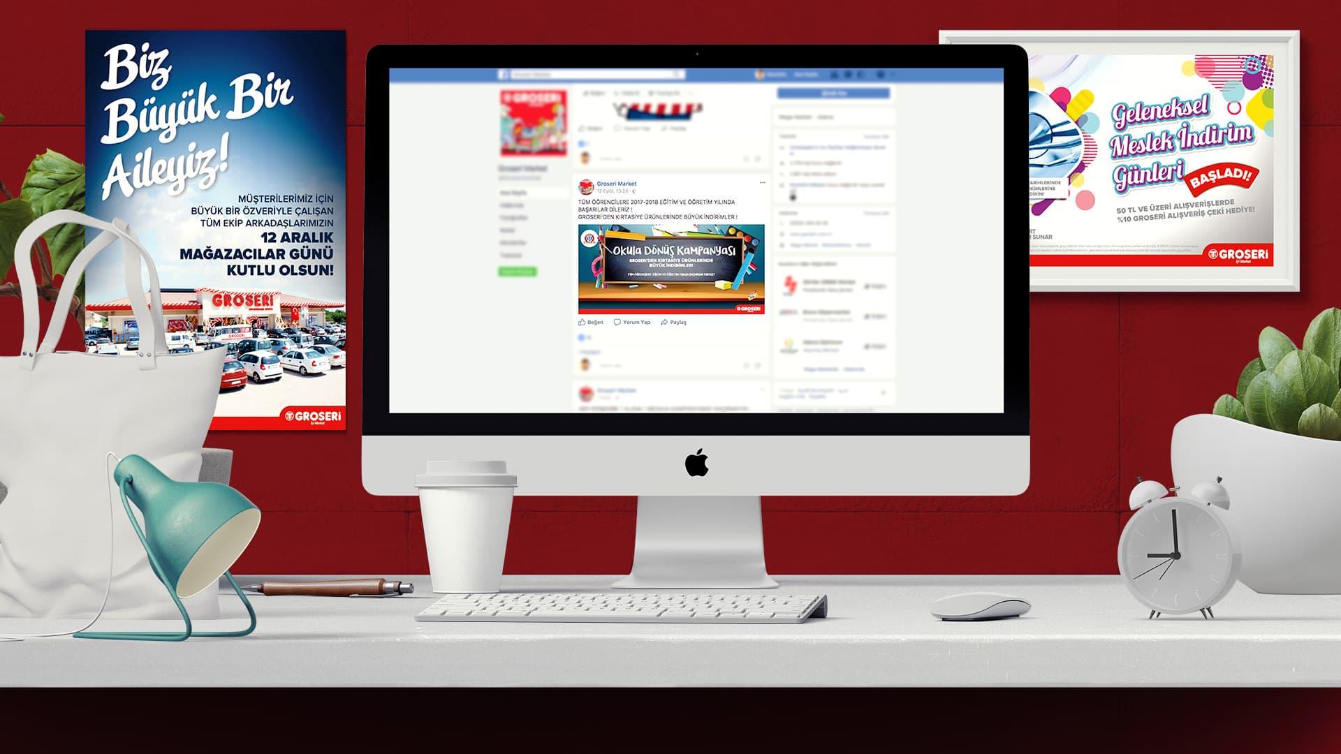Groseri Marketleri - Sosyal Medya Tasarımı
