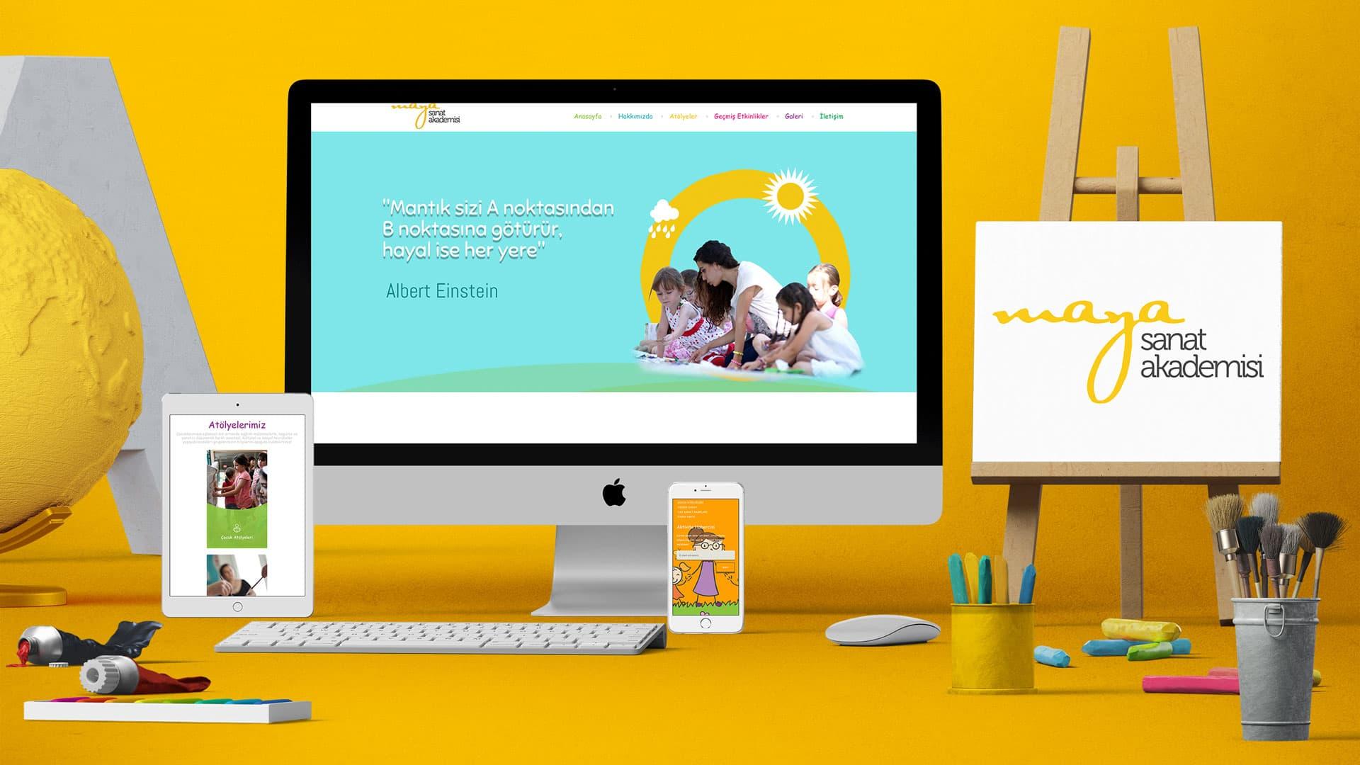 Maya Sanat Akademisi - İnternet Sitesi Tasarımı